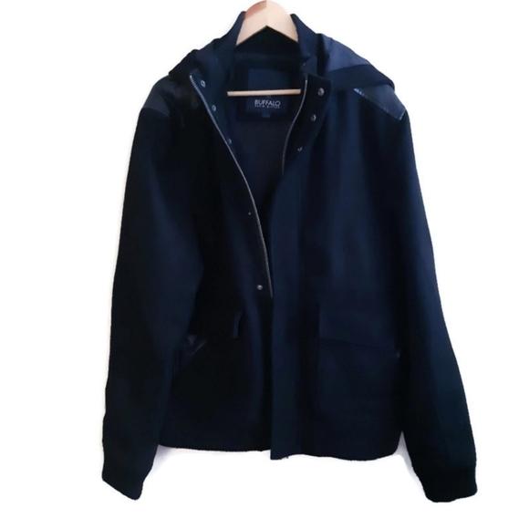 BUFFALO   black wool winter jacket